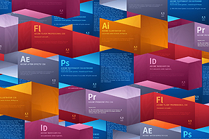 Adobe Products splash screens