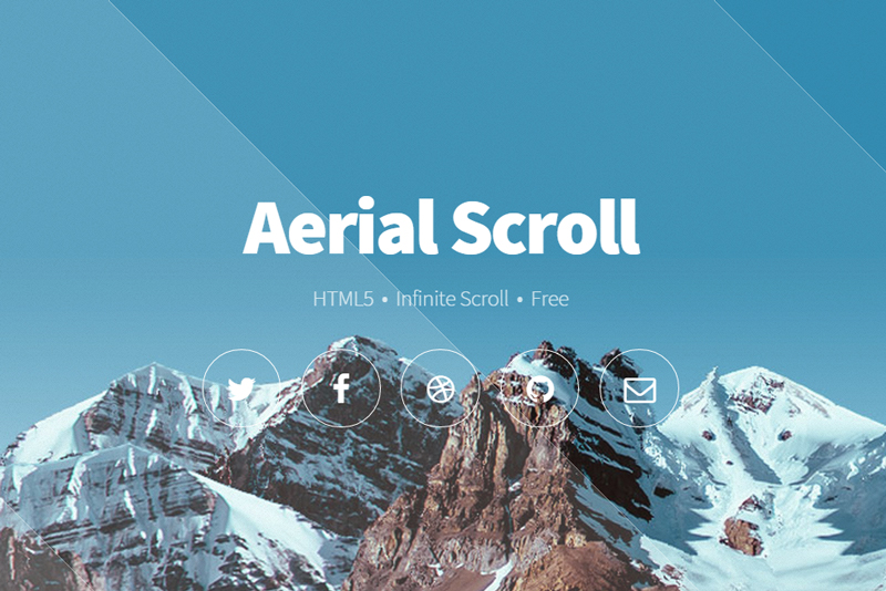 Aerial Infinite Scroll - HTML5 template