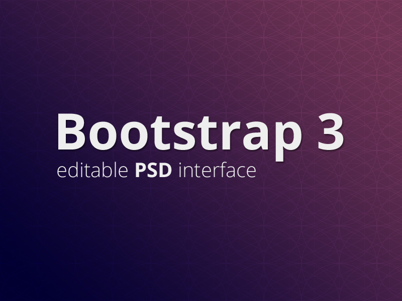 Free Bootstrap 3 Interface in Editable PSD format