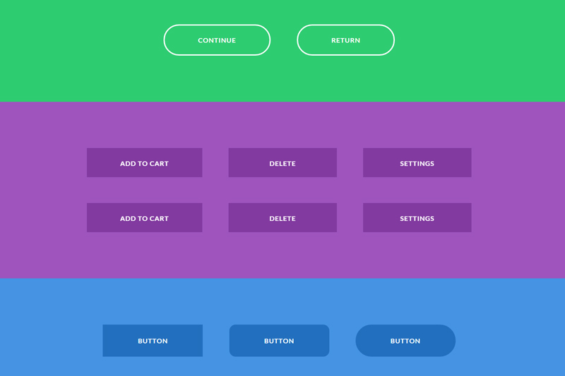 CSS3 Creative Button Styles & Animation Effects