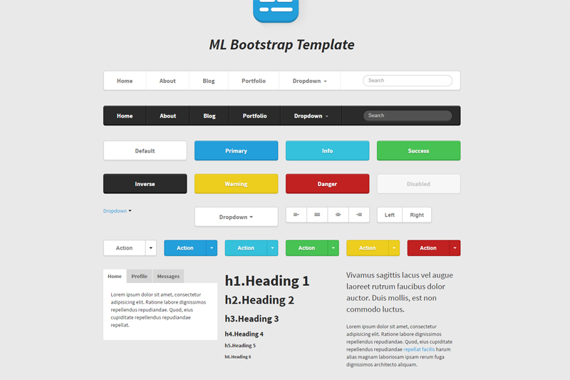 ML Bootstrap Template - Startup UI Kit & Theme