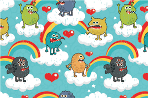 Rainbow Monster Party